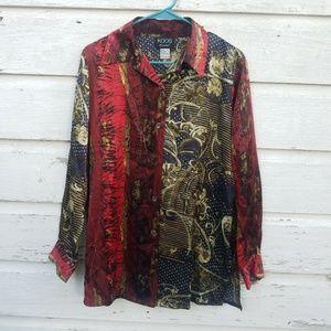 Koos of Course Artsy Silk Tunic Top